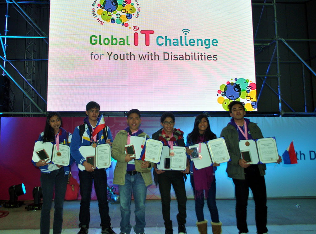Young Filipino PWDs bag Gold and Bronze at 2014 Global IT Challenge