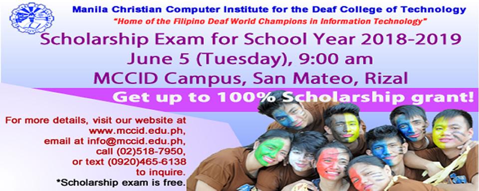 Scholarship Exam – June 5