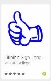 MCCID Filipino Sign Language App Logo
